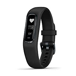 Garmin vivosmart 4, Activity and Fitness Tracker w/ Pulse Ox and Heart Rate Monitor, Black