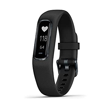 Garmin vivosmart 4 Activity and Fitness Tracker w/ Pulse Ox and Heart Rate Monitor Black Large Band