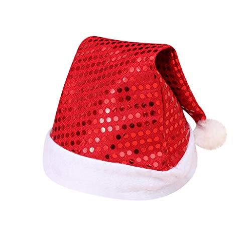 LUCKYCAT Sombreros de Santa Claus Gorros Rojos de Papá Noel para Celebración de Navidad Accesorio para Disfraz Articulo para Fiesta de Cena o Fiesta de Disfraces de Temporada Navideña
