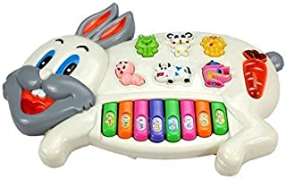Techno Buzz Deal Stylish Musical Piano for Kids with 3 Modes Animal Sounds, Flashing Lights & Wonderful Music