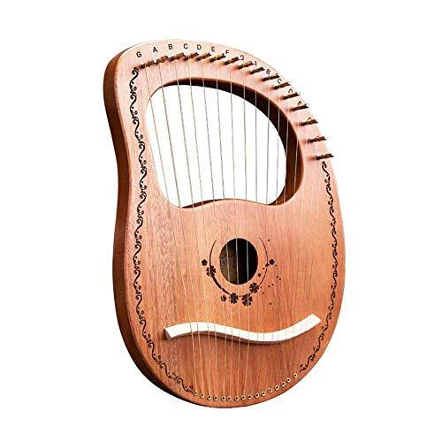 Mahagoni 16 Saiten Metall String Instrument Griechische traditionelle klassische Instrumente Harp Lyra Harps 16.2 * 9.5 * 1.6 inches Glücksgöttin log
