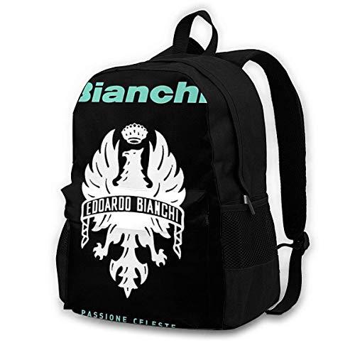 Bianchi Passione Celeste Fahrrad Adult Classic Rucksack Outdoor Freizeitrucksack Studententasche Schwarz