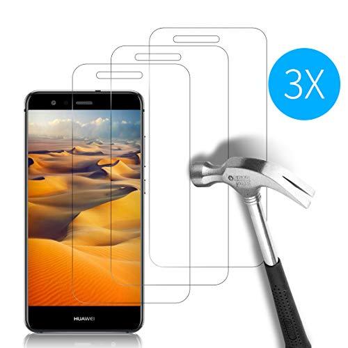 Weinstock-Science | 3X bruchsicheres Schutzglas für Huawei Ascend P10 Lite| Schutzfolie aus 9H Echt Glas