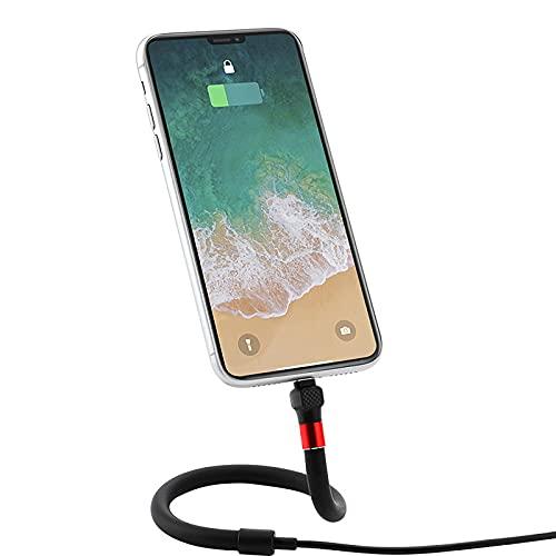 BMDHA Cable De Carga, 1.2 M Cables Soporte para TeléFono MóVil Forma Plegable Libre, Cable Cargador MultifuncióN Durable Cargador RáPida Adecuado para MúLtiples Escenarios
