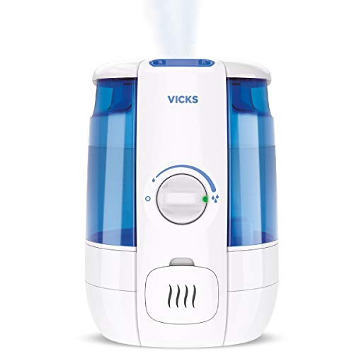 Vicks Ultrasonic CoolRelief Filter Free Humidifier with VapoSteam