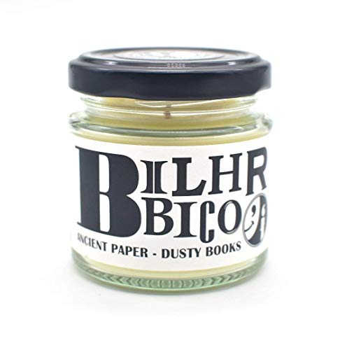Biblichor Scented Candle – Ancient Paper, Dusty Books Candles for Men and Women – Soy Blend Mild Scented Candle – Book Candle – Library Home Office Candle – Luxury Candles with Lid