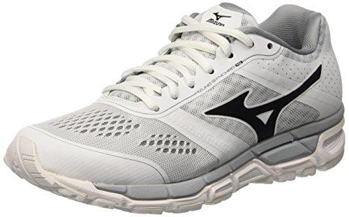 Mizuno Synchro Mx Wos - Entrenamiento y correr Mujer, Bianco (White/Black/Quarry), EU 36.5
