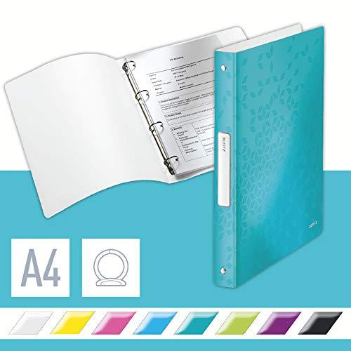 Leitz 42580051 Ringbuch WOW, A4, PP, 4 Ringe, 25 mm, eisblau