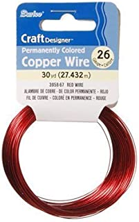 Darice Craft Designer Permanently Colored Copper Wire - RED