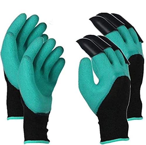 HXHANG Garden Gloves with Claws, Safe Gardening Tool,Safe for Rose Pruning,Best Gardening Tool ,Best Gift for Gardeners, Perfect for, Digging Weeding ( 2 Pairs )