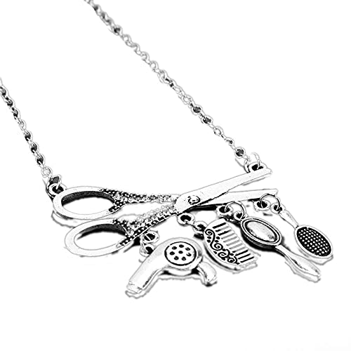 Creative Jewelry Necklace Tools Hair Dryer Comb Mirror Pendants Necklace...