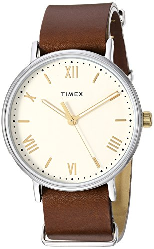 Timex Men's TW2R80400 Southview 41mm Brown/Cream Leather Strap Watch