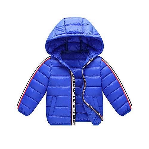 Ramingt-Clothing Veste à Capuche Kid Veste d'hiver à Capuchon Chaud Sports Veste légère Vêtements Vestes Vêtements for Enfants Manteau d'hiver Mince (Color : Blue, Size : 90cm)