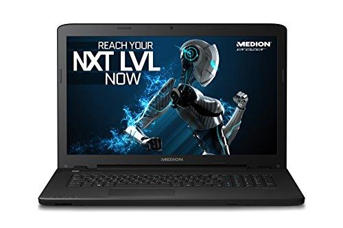 MEDION P7643 MD 99833 43,9 cm (17,3 Zoll) Laptop mit mattem Full HD Display (Intel Core i7 6500U Prozessor, 8GB RAM Arbeitsspeicher, 512GB SSD Festplatte, NVIDIA GeForce GTX 950M 4 GB VRAM, DVD RW Laufwerk, Windows 10 Home) schwarz