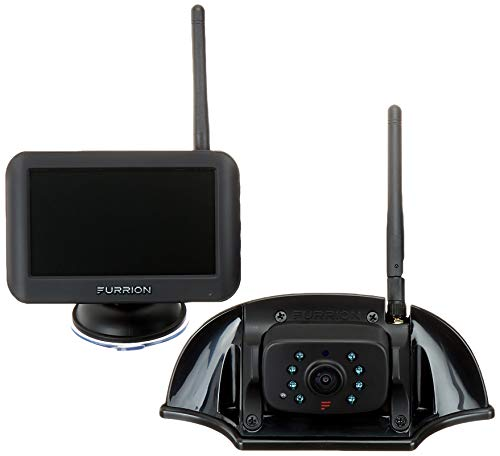 Furrion Vision S 4.3 Inch Wireless RV Backup System with 1 Rear Sharkfin Camera, Infrared Night Vision and Wide Viewing Angle - FOS43TASF