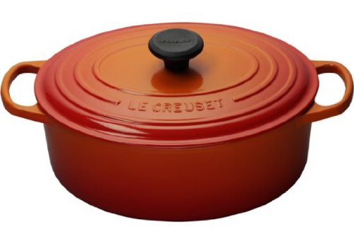 Le Creuset Signature Enameled Cast-Iron Oval Dutch Oven, 5-Quart