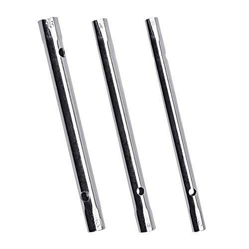 TANCUDER 3 PCS Llave de Tubo para Grifos Llave de Vaso Tubular para Contratuerca Llave de tubo Hueca 8-9, 10-11, 12-13mm Herramienta para Instalación y Mantenimiento de Grifos