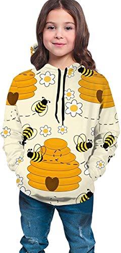 Danicary Suéter con Capucha para niños y niñas Adolescentes, Suelta, cómoda, Transpirable, Informal 3D...