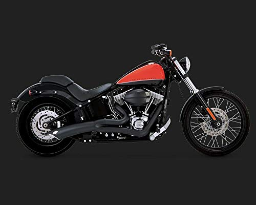 Marmitta Scarico Originale Vance & Hines - 48023 - Big Radius 2:1; Black Nero per Harley Davidson Fat Boy S FLSTFBS