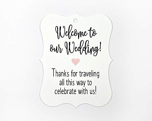24 ct Hotel Welcome Bag Tags, Welcome Wedding Tags, Destination Wedding Tags (EC-369-BL)
