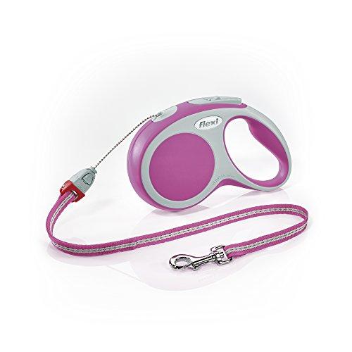 flexi . Roll-Leine Vario, Seil 8 m, für Hunde bis Maximal 12 kg, S, pink