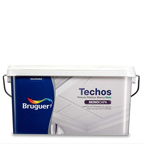 Bruguer - Techos pintura plástica mate - Color blanco luminoso -, 2.5 litros