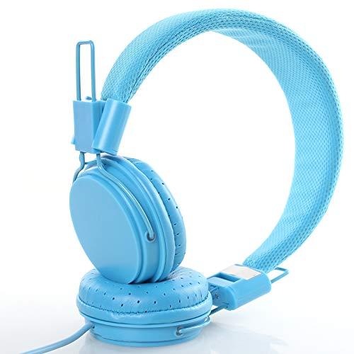 Headset rood geel koptelefoon kabelgebonden mobiele telefoon tablet pc eengat universele headset jongens en meisjes null blauw