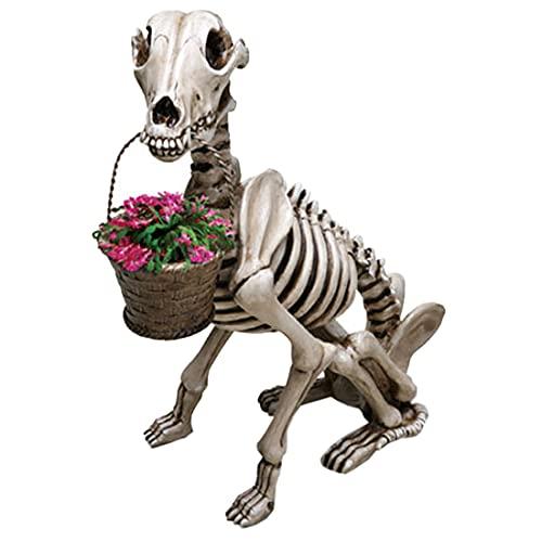 Skeleton Zombie Garden Gnomes Statues - Bones and Dogs Gardening Skeleton Zombie Gnomes Garden...