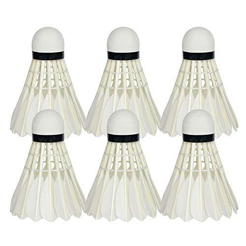 Ylinova Badminton-Federball, 6 Stück, Nylon, langlebig, für Indoor- und Outdoor-Sportarten