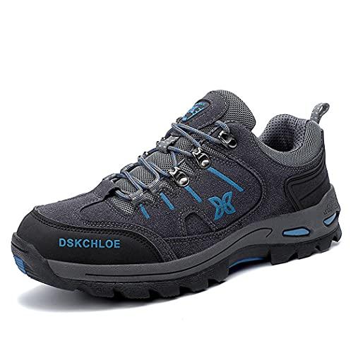 huasa Botas de Senderismo Hombre,Botas de Montaña Antideslizantes Al Aire Libre Zapatos de Deporte,Zapatillas Altas de Trekking Zapatos de Montaña,Grey-39