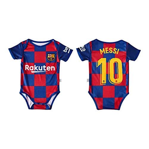SUNY Barcelona Lionel Messi # 10 Baby Bodysuit Fan Fußballtrikot Jungen Mädchen Bodysuit Onesies,Blau,6~12 Months
