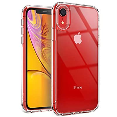 YOUMAKER Stylish Crystal Clear Case for iPhone XR, Anti-Scratch Shock Absorption Slim Fit Drop Protection Premium Bumper Cover Case for iPhone XR 6.1 inch (2018) - Clear