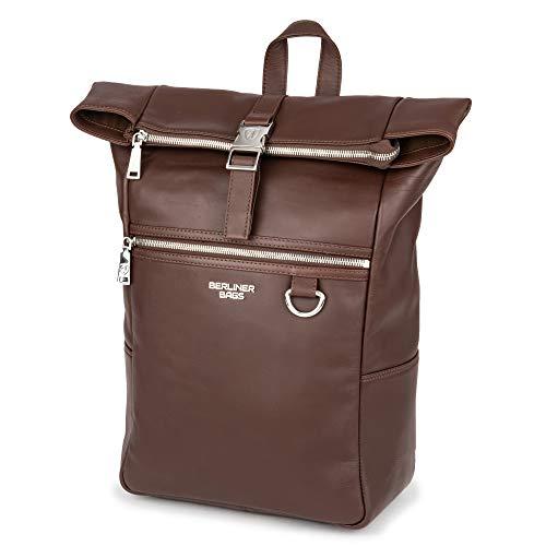 Berliner Bags Premium Rucksack Harlem aus Leder Kurierrucksack 14 Zoll Business für Damen...