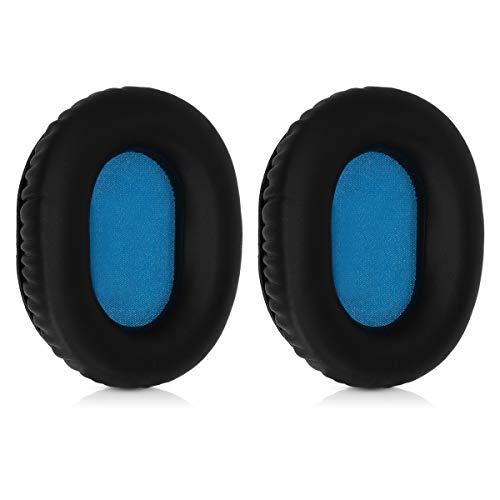 kwmobile Almohadillas compatibles con Sennheiser HD8 / HD8 DJ / HD6 Mix - 2X Almohadilla de Repuesto para Cascos y Auriculares en Cuero sintético