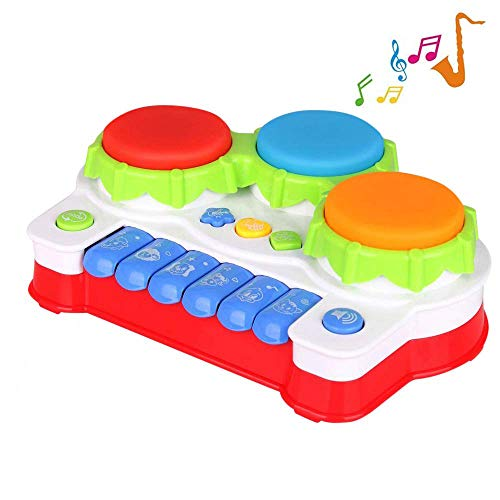 TINOTEEN Baby Toy for Toddler and Infant, Piano and Drum Musical Toys