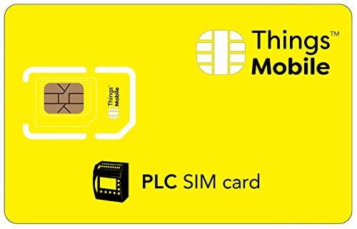 DATEN-SIM-Karte für SPS - Things Mobile - mit weltweiter Netzabdeckung und Mehrfachanbieternetz GSM/2G/3G/4G. Ohne Fixkosten und ohne Verfallsdatum. 10 € Guthaben inklusive