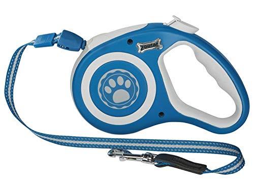 Zoofari hundeleine Ausziehleine Aufrollfunktion Leine Hund Stopp Rollleine Bindfaden für kleine und große Hunde 35 kg / 12 kg/bis zu 8 Meter (Blau/Klein)
