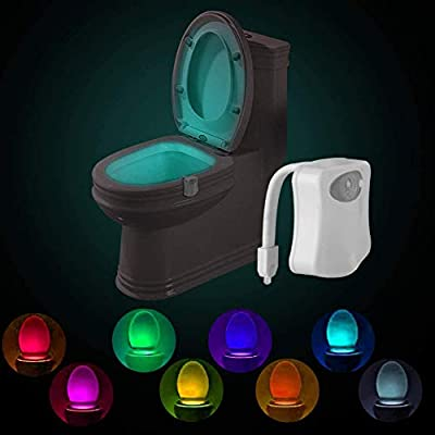 Multi-Color Motion Sensor LED Toilet Night Light, Light Detection Sensor, Cool New Fun Gadget for Him, Her, Men, Women, Birthday Kid, Funny Unique from SCMAuto