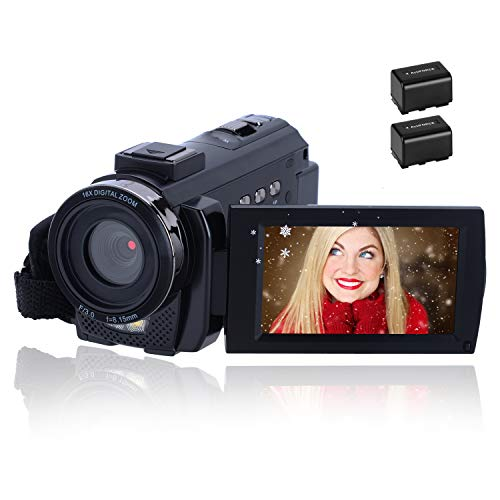Videocámara 1080P CofunKool Video Camara 24MP FHD Vlogging Camera para Youtube,...
