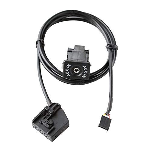 Andylies Interruptor de Entrada Auxiliar de Audio para AutomóVil Adaptador de Cable AUX Enchufe de 18 Pines para - MFD2 RNS2