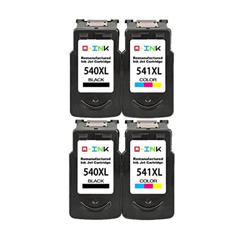 QINK Remanufactured für Canon PG-540XL CL-541XL Schwarz Tintenpatrone hohe Kapazität Hohe Ergiebigkeit für Pixma MG2100 MG2200 MG3200 MG3500 MG3600 MG4100 MX390 MX430 MX475 MX515 MX520 Drucker 2BK+2C