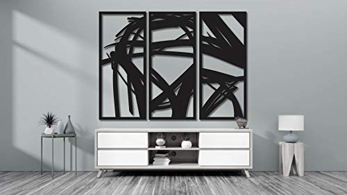 Motsure   3 Piece Abstract Metal Wall Art Home Décor Living Room Office Dining Aluminum Modern...