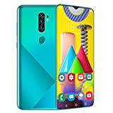 A62plus 4G entsperrtes Smartphone, Android 6 Quad-Core 2 GB + 16 GB, 6,7-Zoll-Wassertropfenbildschirm, entsperrte Dual-SIM-Handys, 5 MP + 2 MP Kamera, 2800 mAh Gesichts-ID-Fingerabdruck