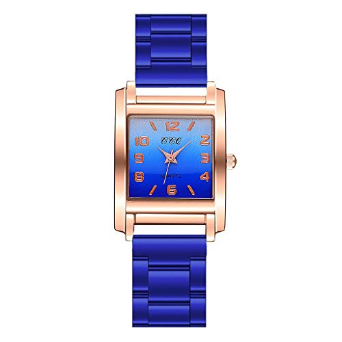 Sleek Minimalist Geometric Square Gradient Matte Ladies Quartz Watch Watches for Women Simple Under 5 Best Gifts for Lovers