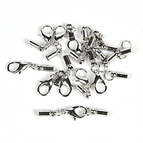 Modis 10 Set/Lote Conectores de Tapas de Punta de Borla de cordón de Cuero con Broche de Langosta fabricación de Joyas Accesorios de joyería DIY