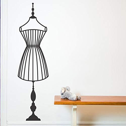 Quszpm Etiqueta de la Pared patrón de suspensión Vinilo Etiqueta de la Pared Perchero decoración del hogar Mural Interior Chica 42x153 cm
