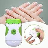 Cortaúñas eléctrico - 2 en 1 cortaúñas seguro de doble uso Cuchillas giratorias de fácil uso y recortador Limpiador de uñas Juego de herramientas de manicura pedicura para niños recién nacidos adultos