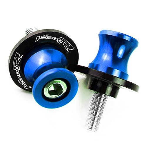 JZWYYF Tornillos De Soporte De 8 Mm Soportes De Marco De Motocicleta Deslizadores De Carretes De Basculante para B-M-W K1200R Sport 2005 2006 2007 2008 Scurmarm Spools Sliders (Color : Azul)