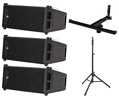 Great Features Of 3X RCF HDL 6-A + Pole Mount Kit + Air Powered Speaker Stand