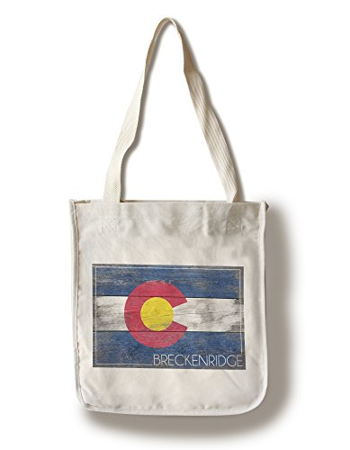 Lantern Press Breckenridge, Colorado - Rustic Colorado State Flag (100% Cotton Tote Bag - Reusable)